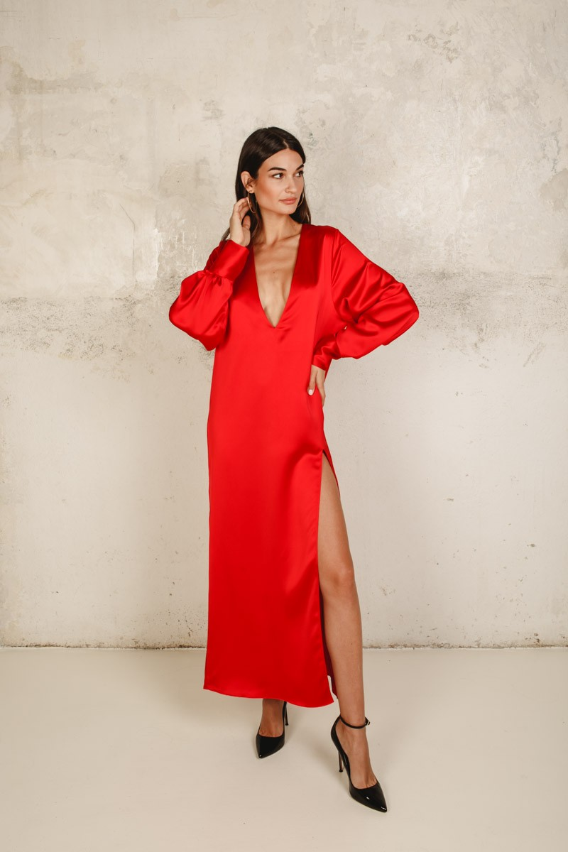Bologna Dress Red