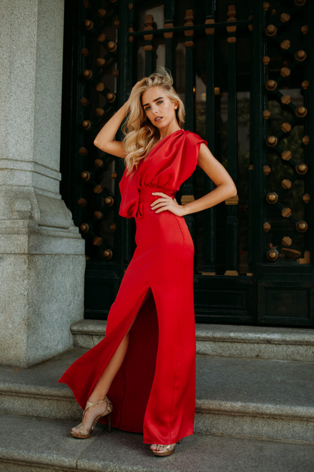 Red Balcony Dress